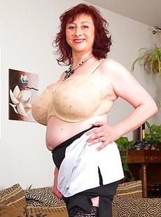 Huge breasted housewife getting very naughty