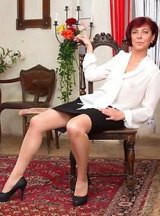 Naughty mature teacher seduces her student