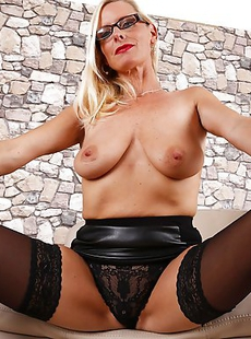 Hot and horny German housewife getting wet