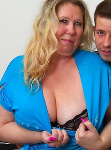 Naughty BBW playing around with her toy boy