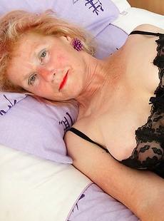 Kinky pierced British housewife playing alone