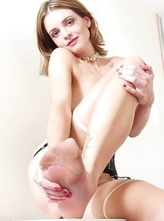 Horny housewife showing off her panties and then some