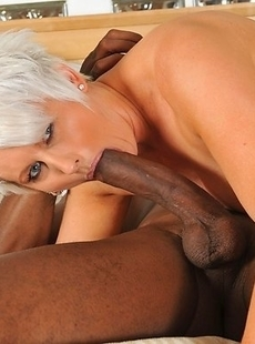 Horny housewife sucking and fucking a big black cock