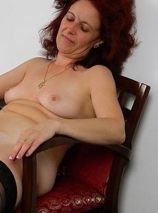 Horny hot stewardess doing a horny mature slut