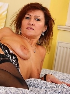 Naughty housewife playing all alone