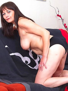 This naughty housewife loves to get down and dirty