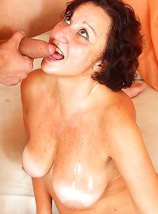 Horny mature slut fucking and sucking a toy boy