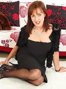 Naughty British housewife getting ready to masturbate