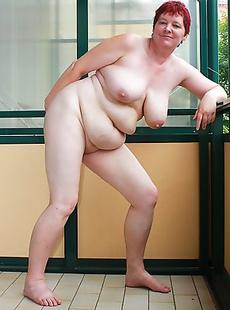 Naughty housewife playing on her balcony