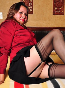 Naughty Latin mature lady getting ready to play alone