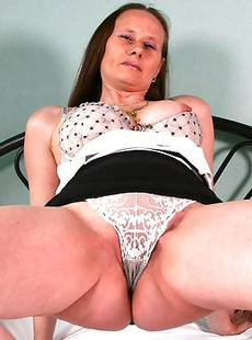 Naughty housewife getting ready for her toy